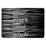 I love black and white Samsung Galaxy Tab 8.9  P7300 Flip Case