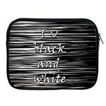 I love black and white Apple iPad 2/3/4 Zipper Cases