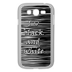 I love black and white Samsung Galaxy Grand DUOS I9082 Case (White) Front