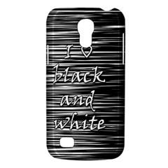I love black and white Galaxy S4 Mini