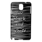 I love black and white Samsung Galaxy Note 3 N9005 Hardshell Case