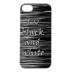 I Love Black And White Apple Iphone 5s/ Se Hardshell Case by Valentinaart