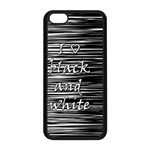 I love black and white Apple iPhone 5C Seamless Case (Black)