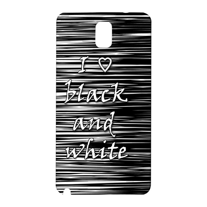 I love black and white Samsung Galaxy Note 3 N9005 Hardshell Back Case