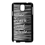 I love black and white Samsung Galaxy Note 3 Neo Hardshell Case (Black) Front