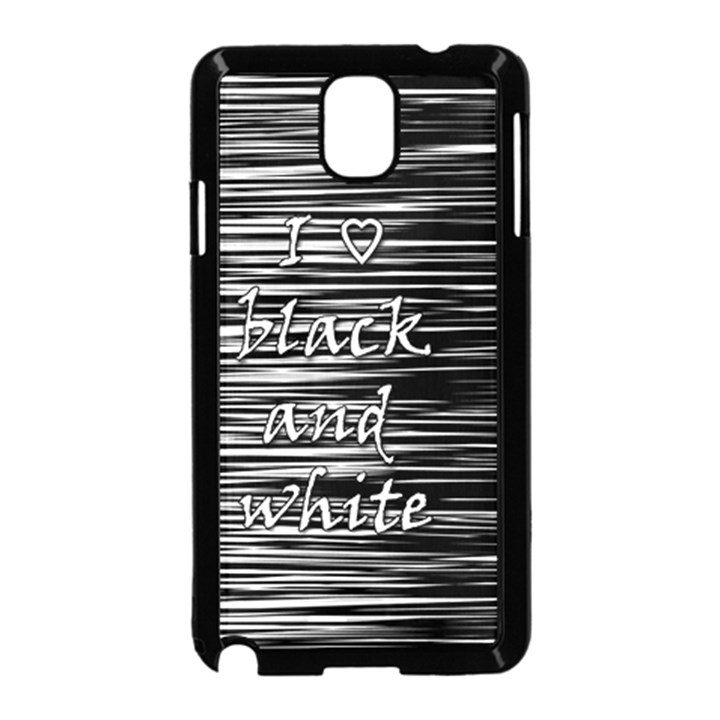 I love black and white Samsung Galaxy Note 3 Neo Hardshell Case (Black)