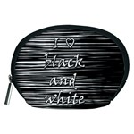 I love black and white Accessory Pouches (Medium)  Front