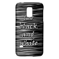 I love black and white Galaxy S5 Mini