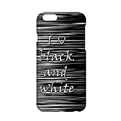 I Love Black And White Apple Iphone 6/6s Hardshell Case by Valentinaart
