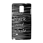 I love black and white Samsung Galaxy Note 4 Hardshell Case