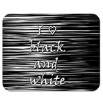I love black and white Double Sided Flano Blanket (Medium)