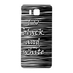 I love black and white Samsung Galaxy Alpha Hardshell Back Case