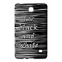 I Love Black And White Samsung Galaxy Tab 4 (8 ) Hardshell Case  by Valentinaart