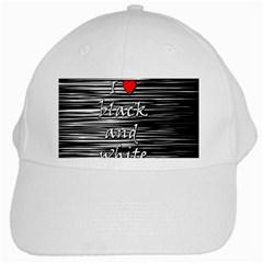 I love black and white 2 White Cap