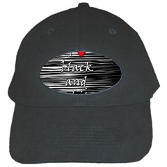 I Love Black And White 2 Black Cap