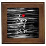 I love black and white 2 Framed Tiles Front