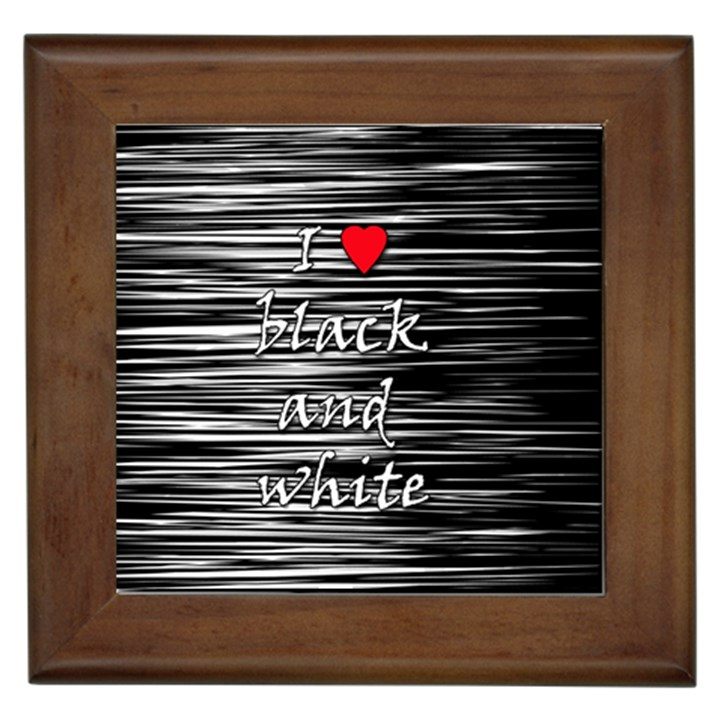 I love black and white 2 Framed Tiles