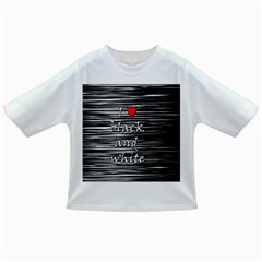 I Love Black And White 2 Infant/toddler T Shirts