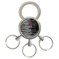 I love black and white 2 3-Ring Key Chains