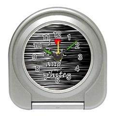 I love black and white 2 Travel Alarm Clocks