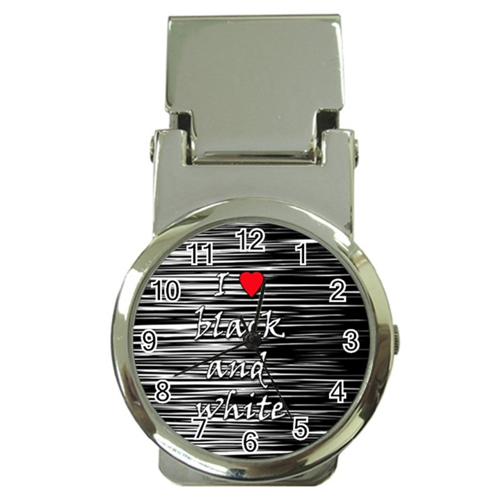 I love black and white 2 Money Clip Watches