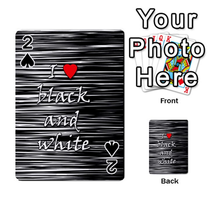 I love black and white 2 Playing Cards 54 Designs