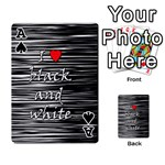 I love black and white 2 Playing Cards 54 Designs  Front - SpadeA