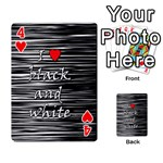 I love black and white 2 Playing Cards 54 Designs  Front - Heart4