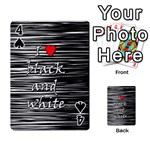 I love black and white 2 Playing Cards 54 Designs  Front - Spade4