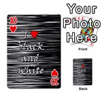 I love black and white 2 Playing Cards 54 Designs  Front - Heart10
