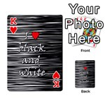 I love black and white 2 Playing Cards 54 Designs  Front - HeartK