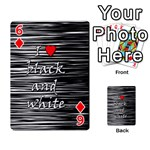 I love black and white 2 Playing Cards 54 Designs  Front - Diamond6