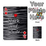 I love black and white 2 Playing Cards 54 Designs  Front - DiamondA