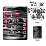 I love black and white 2 Playing Cards 54 Designs  Front - Joker2