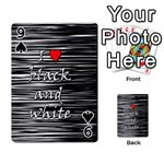 I love black and white 2 Playing Cards 54 Designs  Front - Spade9