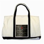 I love black and white 2 Two Tone Tote Bag Front