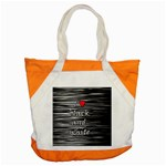 I love black and white 2 Accent Tote Bag Front