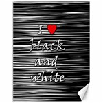 I love black and white 2 Canvas 18  x 24   24 x18 Canvas - 1