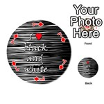 I love black and white 2 Playing Cards 54 (Round)  Front - Diamond7
