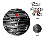 I love black and white 2 Playing Cards 54 (Round)  Front - Club6