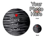 I love black and white 2 Multi-purpose Cards (Round)  Front 19