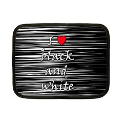 I Love Black And White 2 Netbook Case (small)