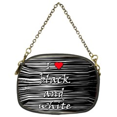 I Love Black And White 2 Chain Purses (one Side)