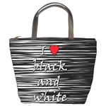 I love black and white 2 Bucket Bags Front