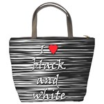I love black and white 2 Bucket Bags Back