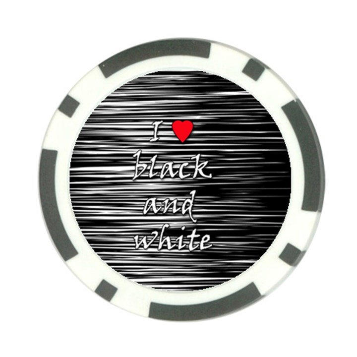 I love black and white 2 Poker Chip Card Guards (10 pack)