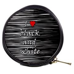 I love black and white 2 Mini Makeup Bags