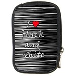 I love black and white 2 Compact Camera Cases Front