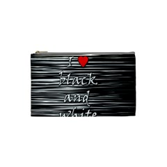 I Love Black And White 2 Cosmetic Bag (small)