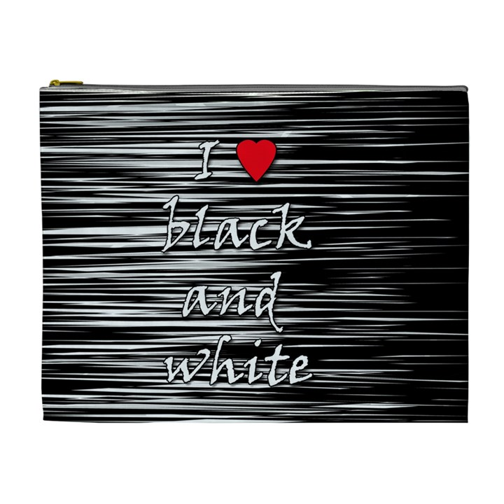I love black and white 2 Cosmetic Bag (XL)
